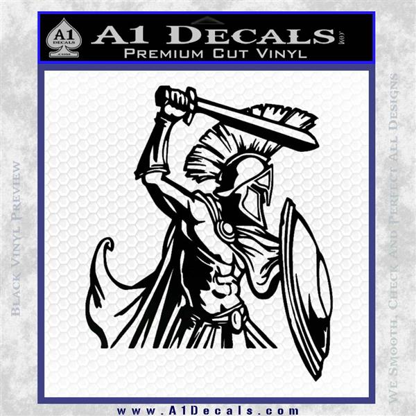 Spartan Warrior D14 Decal Sticker Black Logo Emblem