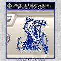 Spartan Warrior D14 Decal Sticker Blue Vinyl 120x120