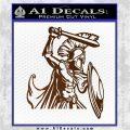 Spartan Warrior D14 Decal Sticker Brown Vinyl 120x120