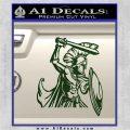 Spartan Warrior D14 Decal Sticker Dark Green Vinyl 120x120