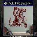 Spartan Warrior D14 Decal Sticker Dark Red Vinyl 120x120