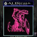 Spartan Warrior D14 Decal Sticker Hot Pink Vinyl 120x120