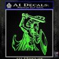 Spartan Warrior D14 Decal Sticker Lime Green Vinyl 120x120