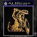 Spartan Warrior D14 Decal Sticker Metallic Gold Vinyl 120x120