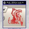 Spartan Warrior D14 Decal Sticker Red Vinyl 120x120