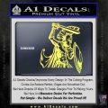 Spartan Warrior D14 Decal Sticker Yelllow Vinyl 120x120
