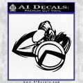 Spartan Warrior D4 Decal Sticker Black Logo Emblem 120x120