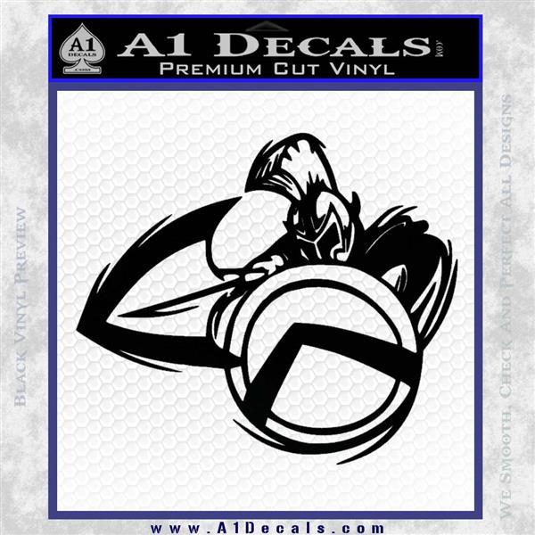 Spartan Warrior D4 Decal Sticker Black Logo Emblem