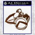 Spartan Warrior D4 Decal Sticker Brown Vinyl 120x120