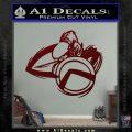 Spartan Warrior D4 Decal Sticker Dark Red Vinyl 120x120