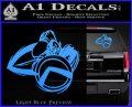 Spartan Warrior D4 Decal Sticker Light Blue Vinyl 120x97