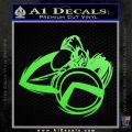 Spartan Warrior D4 Decal Sticker Lime Green Vinyl 120x120