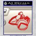 Spartan Warrior D4 Decal Sticker Red Vinyl 120x120