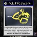 Spartan Warrior D4 Decal Sticker Yelllow Vinyl 120x120