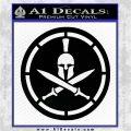 Spartan Warrior Decal Sticker CR8 Black Logo Emblem 120x120