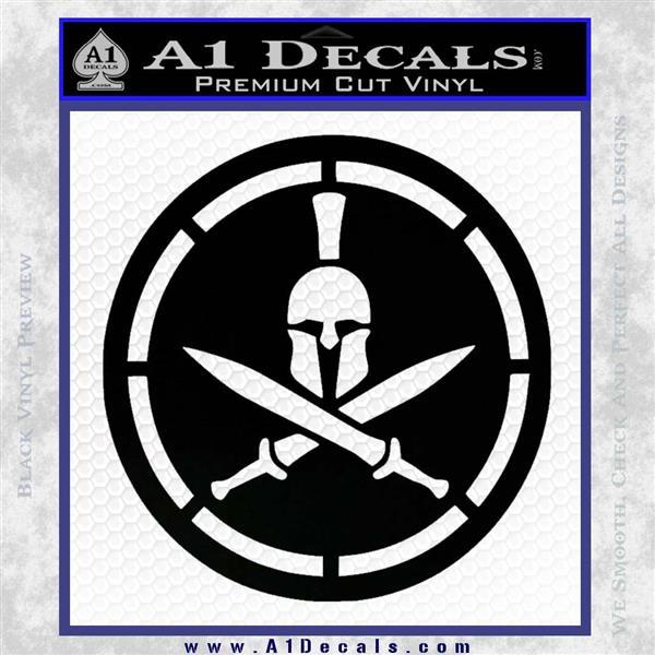 Spartan Warrior Decal Sticker CR8 Black Logo Emblem
