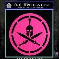 Spartan Warrior Decal Sticker CR8 Hot Pink Vinyl 120x120