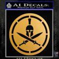 Spartan Warrior Decal Sticker CR8 Metallic Gold Vinyl Vinyl 120x120