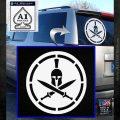 Spartan Warrior Decal Sticker CR8 White Emblem 120x120