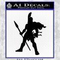 Spartan Warrior Spear Decal Sticker Black Logo Emblem 120x120