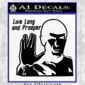 Spock Decal Sticker LLAP Decal Sticker Black Logo Emblem 120x120