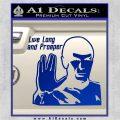 Spock Decal Sticker LLAP Decal Sticker Blue Vinyl 120x120