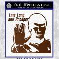 Spock Decal Sticker LLAP Decal Sticker Brown Vinyl 120x120