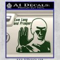 Spock Decal Sticker LLAP Decal Sticker Dark Green Vinyl 120x120