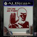 Spock Decal Sticker LLAP Decal Sticker Dark Red Vinyl 120x120
