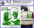 Spock Decal Sticker LLAP Decal Sticker Green Vinyl 120x97
