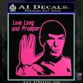 Spock Decal Sticker LLAP Decal Sticker Hot Pink Vinyl 120x120