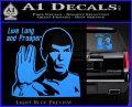Spock Decal Sticker LLAP Decal Sticker Light Blue Vinyl 120x97