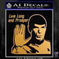 Spock Decal Sticker LLAP Decal Sticker Metallic Gold Vinyl Vinyl 120x120