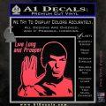 Spock Decal Sticker LLAP Decal Sticker Pink Vinyl Emblem 120x120