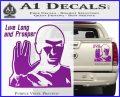 Spock Decal Sticker LLAP Decal Sticker Purple Vinyl 120x97