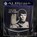 Spock Decal Sticker LLAP Decal Sticker Silver Vinyl 120x120