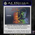 Spock Decal Sticker LLAP Decal Sticker Sparkle Glitter Vinyl 120x120