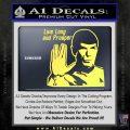 Spock Decal Sticker LLAP Decal Sticker Yelllow Vinyl 120x120
