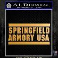 Springfield Armory USA Firearms Decal Sticker Metallic Gold Vinyl Vinyl 120x120