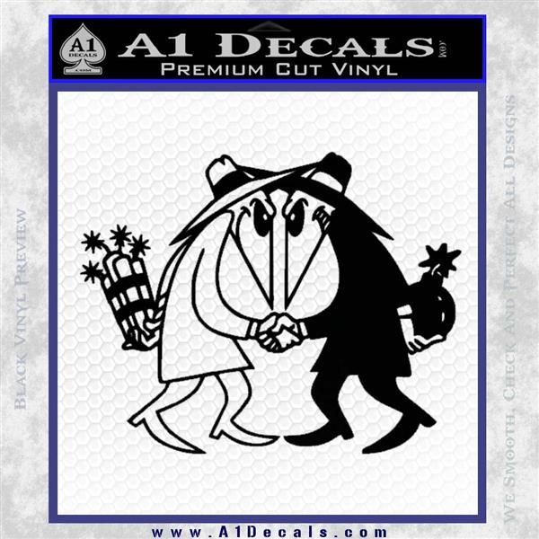Spy vs Spy Vinyl Decal Sticker Black Logo Emblem