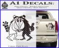 Spy vs Spy Vinyl Decal Sticker Carbon Fiber Black 120x97