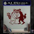 Spy vs Spy Vinyl Decal Sticker Dark Red Vinyl 120x120