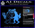 Spy vs Spy Vinyl Decal Sticker Light Blue Vinyl 120x97