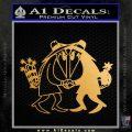 Spy vs Spy Vinyl Decal Sticker Metallic Gold Vinyl 120x120