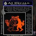 Spy vs Spy Vinyl Decal Sticker Orange Vinyl Emblem 120x120
