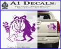 Spy vs Spy Vinyl Decal Sticker Purple Vinyl 120x97