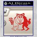 Spy vs Spy Vinyl Decal Sticker Red Vinyl 120x120