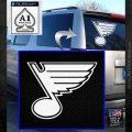 St Louis Blues Decal Sticker White Emblem 120x120
