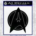 Star Fleet Communicator Badge Decal Sticker 2016 Black Logo Emblem 120x120
