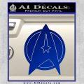 Star Fleet Communicator Badge Decal Sticker 2016 Blue Vinyl 120x120